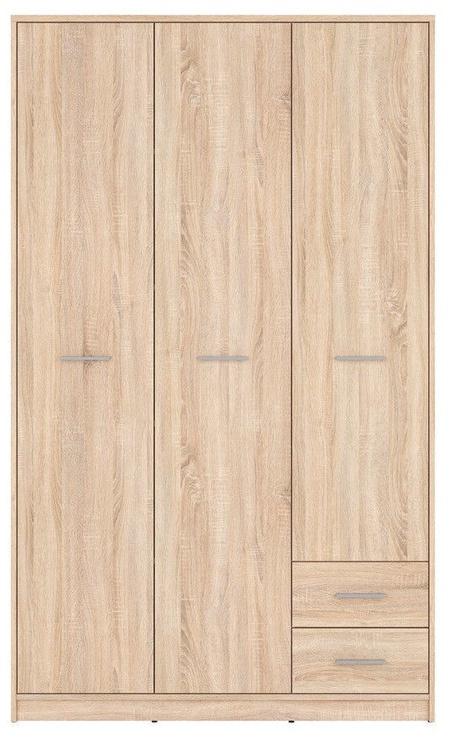 Skapis Black Red White Nepo Plus Sonoma Oak, 118.5x54.5x197 cm
