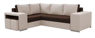 Stūra dīvāns Idzczak Meble Macho Brown/Beige, 275 x 215 x 85 cm