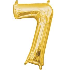 Balons Amscan NR 7, zelta