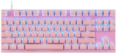 Motospeed CK82 TKL Mechanical Gaming Keyboard Pink US Red Switch