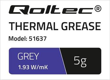 Термопаста Qoltec Thermal Grease 1.93 W/m-K 5g