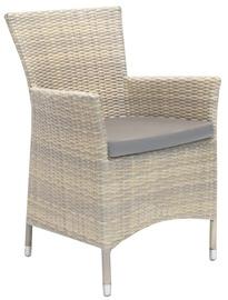 Dārza krēsls Home4you Wicker, smilškrāsas, 61x63x86 cm