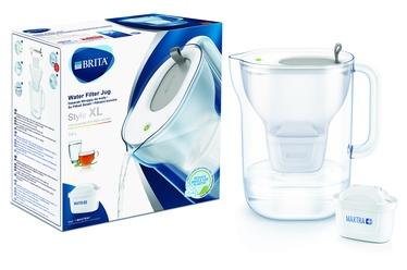 Ūdens filtrēšanas trauks BRITA Style XL 3.6L led, pelēks