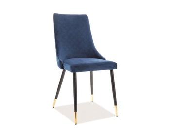 Signal Meble Piano Velvet Chair Navy