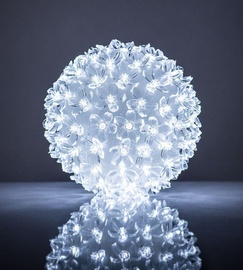 EV LED 100 Ball with Flowers White D14cm