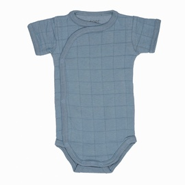 Lodger Romper Solid Body With Short Sleeves Ocean 74cm