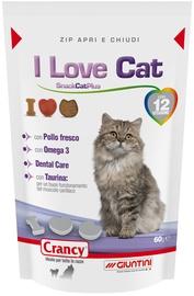 Лакомство для кошек Crancy Snack Cat Plus I Love Cat, чипсы, печенье, 0.06 кг
