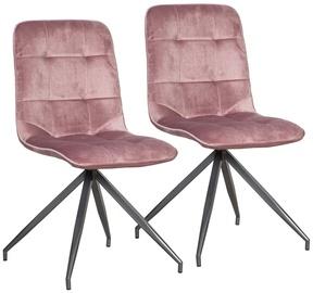 Ēdamistabas krēsls Home4you Rimini Pink, 2 gab.