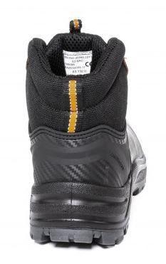 Kurpes Albatros Natural Leather Working Shoes With Loop Brown Black 44