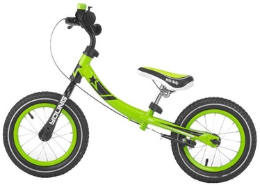 Velosipēds Milly Mally Young Balance Bike Green 2077