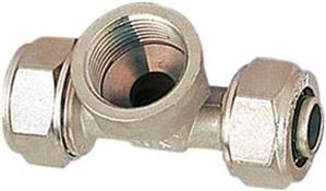 "Система трубопровода GTN PEX Pipe 3-Way Connector with Internal Thread Nickel 25x1""x25mm"