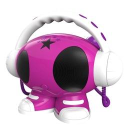 Магнитола Bigben ROBOT02, 40 Вт, белый/розовый
