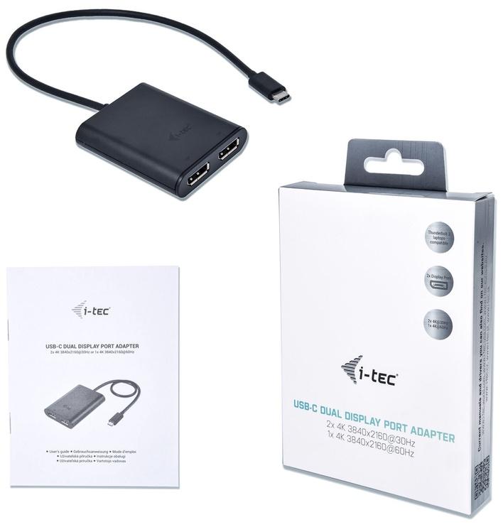 i-Tec Adapter USB-C 3.1 to 2 x DisplayPort