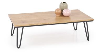 Журнальный столик Halmar Nila Golden Oak/Black, 1050x550x320 мм