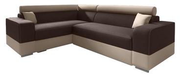 Stūra dīvāns Idzczak Meble Infinity Mini Brown/Beige, 256 x 186 x 93 cm