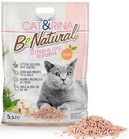 Kaķu pakaiši Cat&Rina Tofu With Peach, 5.5 l