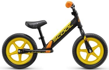 Балансирующий велосипед Scool Pedex Race, черный/желтый, 12″