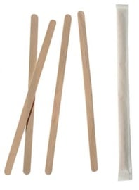 Pap Star Pure Wooden Mixing Sticks 6x140mm 1000pcs