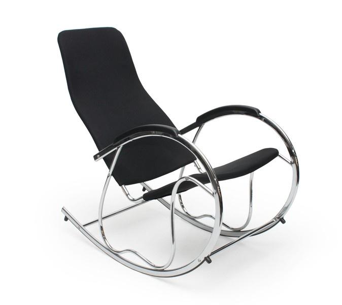 Кресло Halmar Ben 2, черный/хромовый, 97 см x 55 см x 99 см