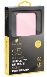Ārējs akumulators Puridea S5 Pink, 7000 mAh