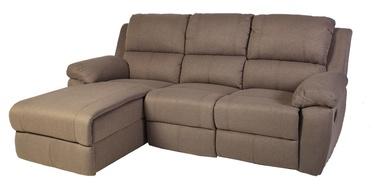 Stūra dīvāns Home4you Berkley Beige, kreisais, 216 x 165 x 100 cm