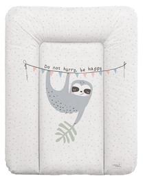 Matracis autiņu maiņai Ceba Baby Small Candy And Lazy Soft, 70x50 cm, balta