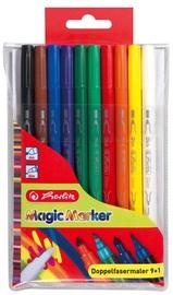 Herlitz Double Felt Pens 10-Pieces Magic Colours