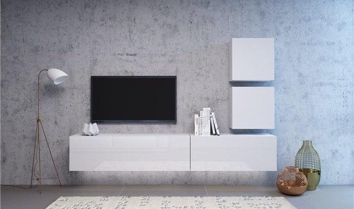 Vivaldi Meble Vivo 03 Wall Shelf With LED White/White Gloss