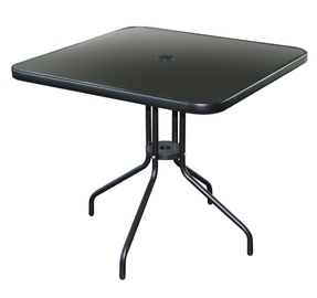 Садовый стол Besk Garden Table, черный, 60 x 60 x 70 см