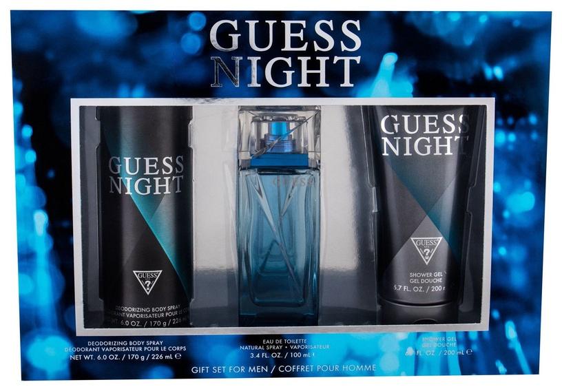 Vīriešu smaržu komplekts Guess Night 100 ml EDT + 226 ml Body Spray + 200 ml Shower Gel
