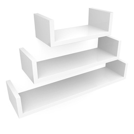 Songmics Wall Shelf White 60/45/30 3pcs