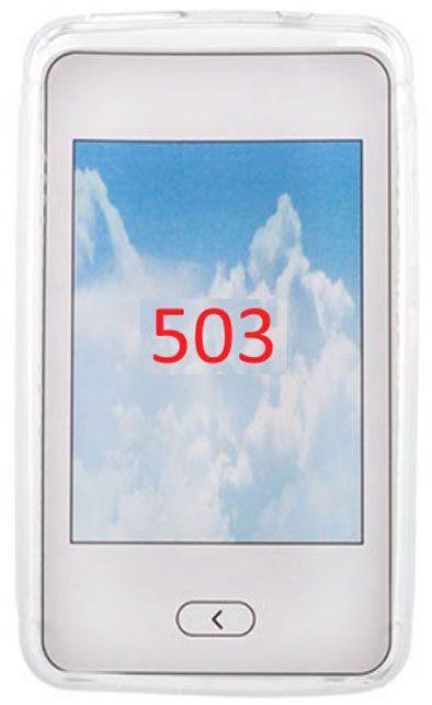 Telone Back Case S-Case for Nokia 503 Asha Transparent