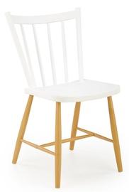 Ēdamistabas krēsls Halmar K419, brūna/balta