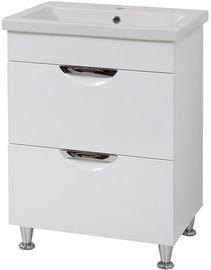 Sanservis Laura 50-2 Cabinet with Basin White 50x80x40cm