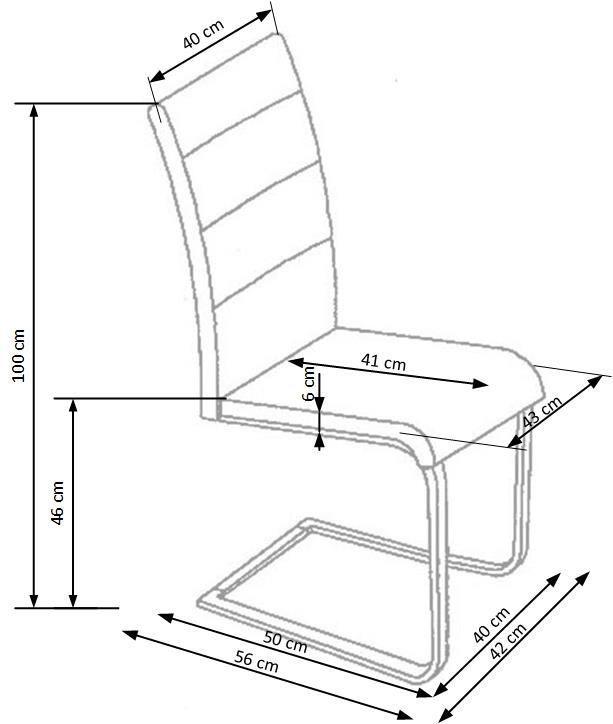 Ēdamistabas krēsls Halmar K-85, pelēka