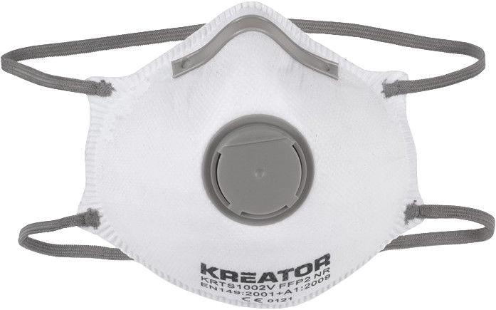 Respirators Kreator KRTS1002V FFP2 with Valve 2pcs