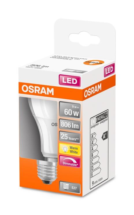 Spuldze Osram 4058075433861, led, E27, 9 W, 806 lm, silti balta