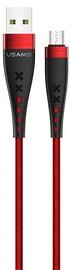 Usams U11 Nylon Braided USB To Micro USB Cable 1.2m Red