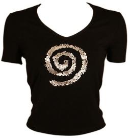 Bars Womens T-Shirt Black 127 S