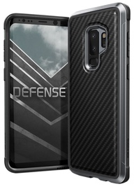 X-Doria Defense Lux Carbon Fiber Back Cover For Samsung Galaxy S9 Plus Black