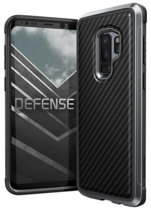 X-Doria Defense Lux Carbon Fiber Back Cover For Samsung Galaxy S9 Plus Black