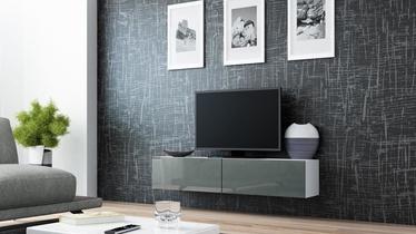 ТВ стол Cama Meble Vigo 140, белый/серый, 1400x300x400 мм