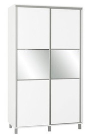Skapis Bodzio SZP120 White, 120x60x210 cm, with mirror