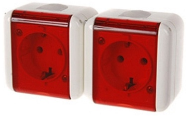REML 229215400 Double Socket Red