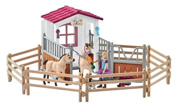 Rotaļlietu figūriņa Schleich Horse Stall With Arab Horses And Groom 42369