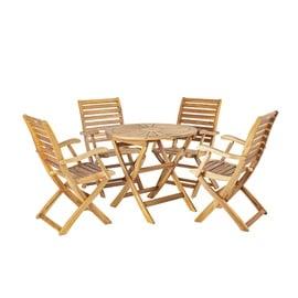 Home4you Cherry Garden Furniture Set Natural K133241