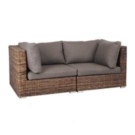 Садовый диван Home4you Croco, коричневый/серый