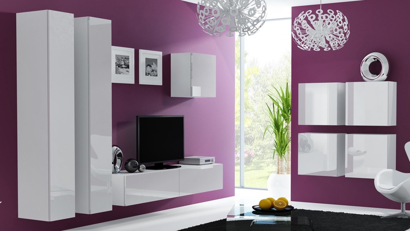 Cama Meble Vigo Square Cabinet White/White Gloss