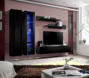 Dzīvojamās istabas mēbeļu komplekts ASM Fly A4 Black