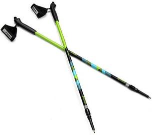Spokey Meadow III Nordic Walking Poles Black/Green